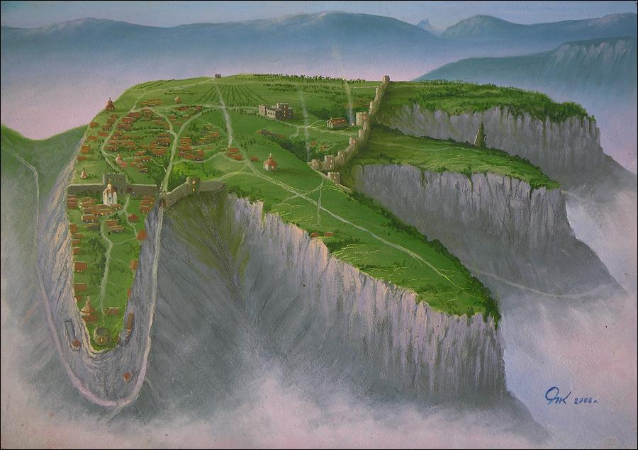 Расположение древнего города и его укреплений. Краткая информация о Мангуп-Кале