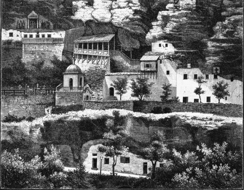старая фотография Свято-Успенского монастыря