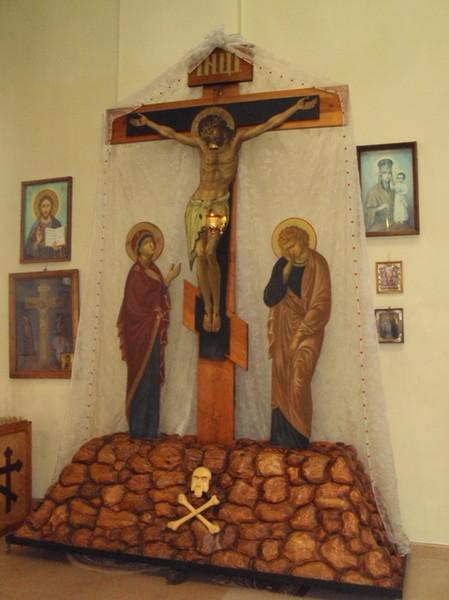 """вид """"Голгофы"""" внутри Феодоровской церкви"""