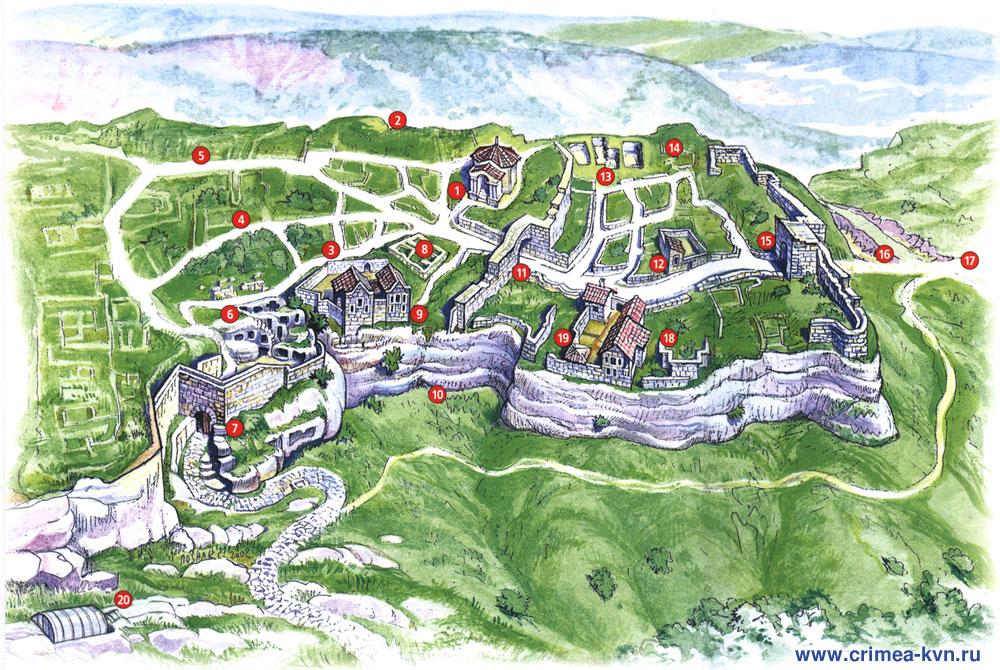 Фото планировки города Чуфут-Кале