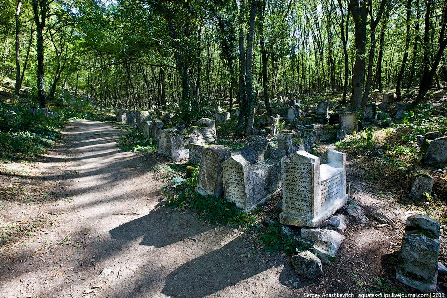 Изображение современного вида караимского кладбища