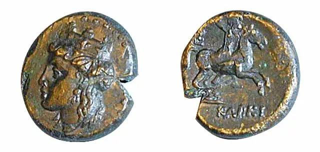 Фото: Керкинитида и её монеты