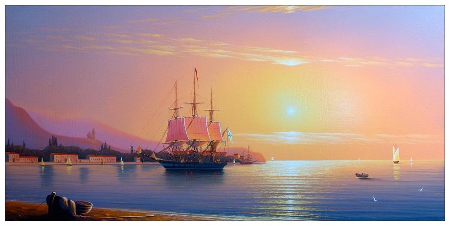 На панно итальянцы в Черном море - картина