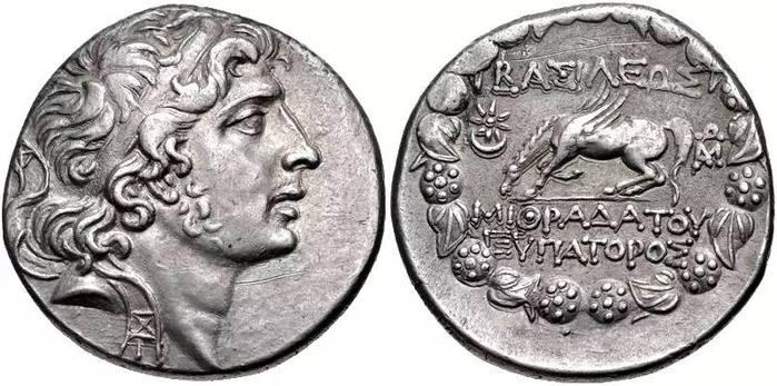 Показана понтийская монета с изображением государя