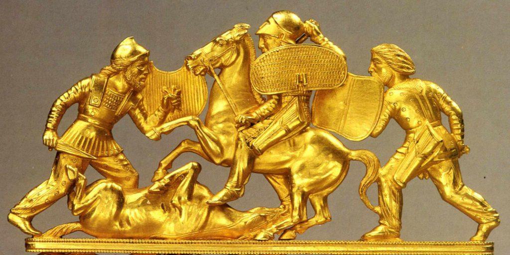 Изображение статуэтки, рисующей греческие войны со скифами