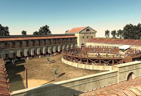 Изображение древнеримского военного учебного центра