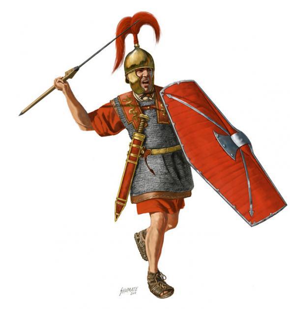 Изображение римского копьеносца