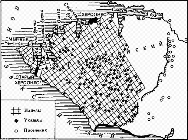 Карта: хора Херсонеса