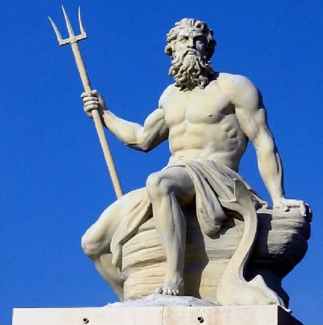 Изображение бога Нептуна