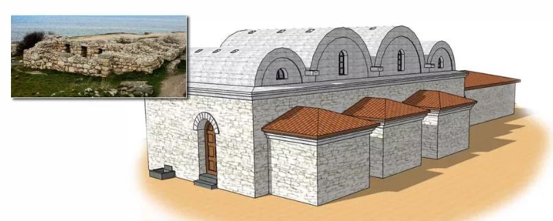 Картинка: реконструкция бани в Херсонесе