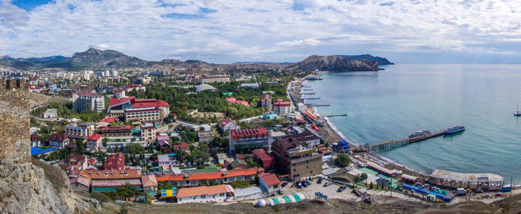 Вид на город - фотография