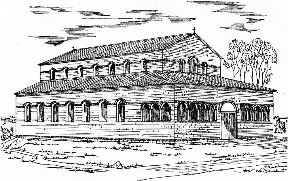 Фото: христианский базиликальный храм