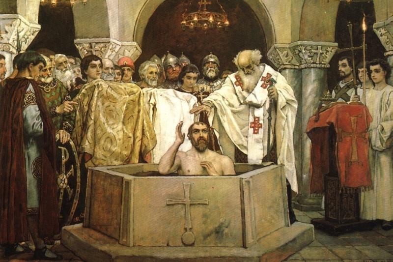 Изображение: крещение князя Владимира. Корсунь