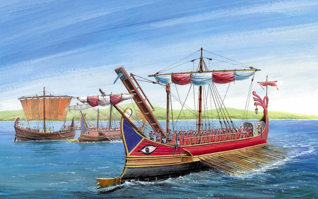 Картинка греческих кораблей