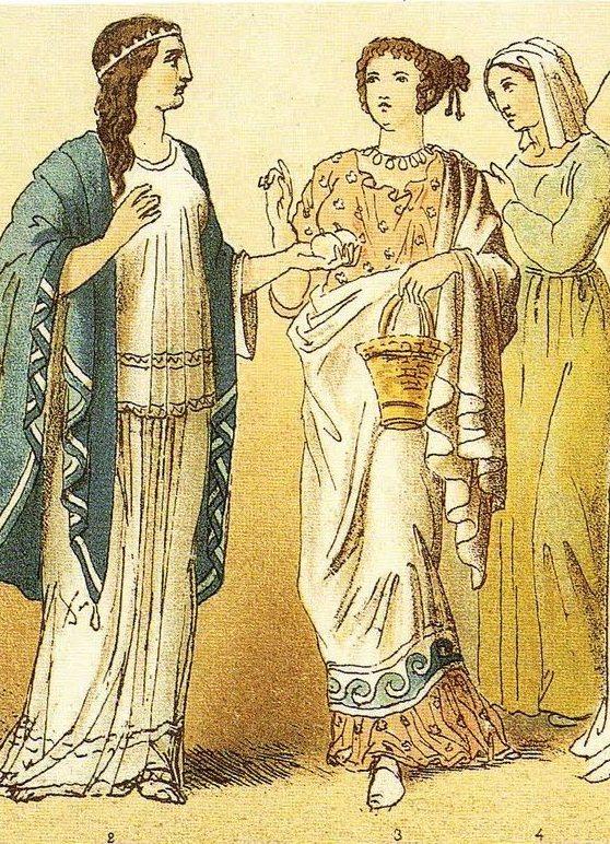 На картинке показана древнегреческая одежда