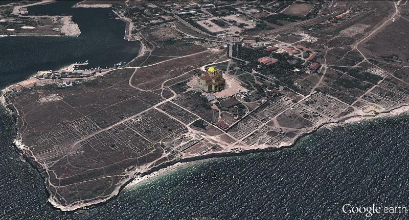 Фото: вид с космоса на Херсонес