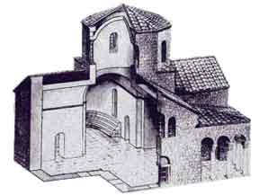 На фото Храм с ковчегом - реконструкция