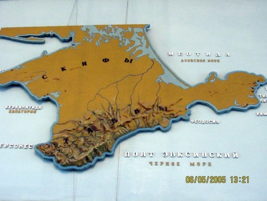 Карта: Тавры в Крыму