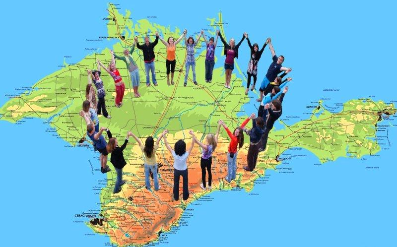 На картинке народы Крыма