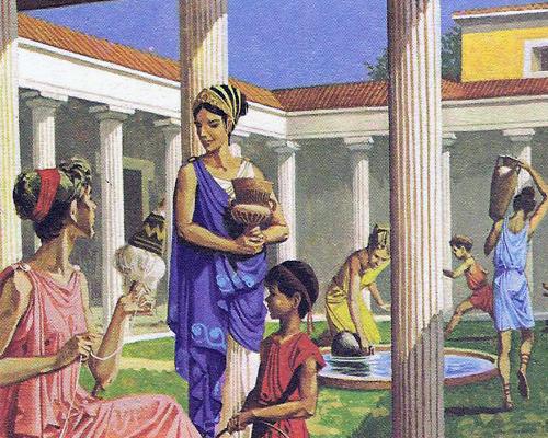 На картинке греческие колонисты в Феодосии