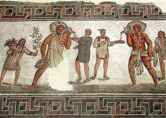 На фото старинная фреска