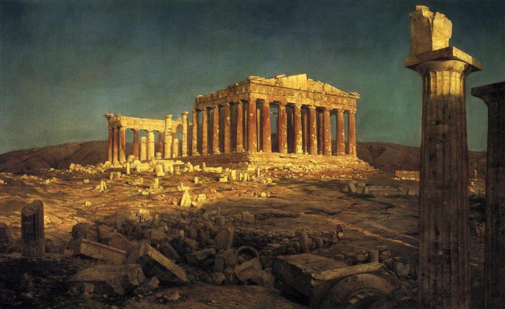 Классические руины античного города - картинка