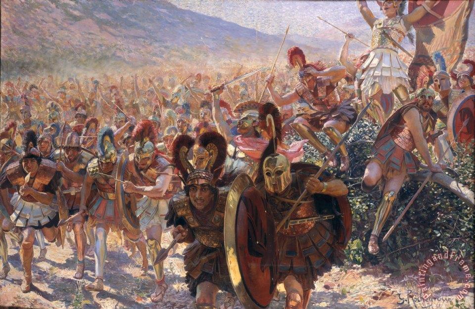 Изображение древних воинов