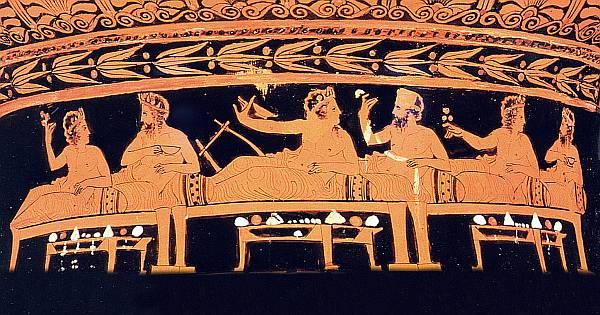 На картинке показано искусство древних греков
