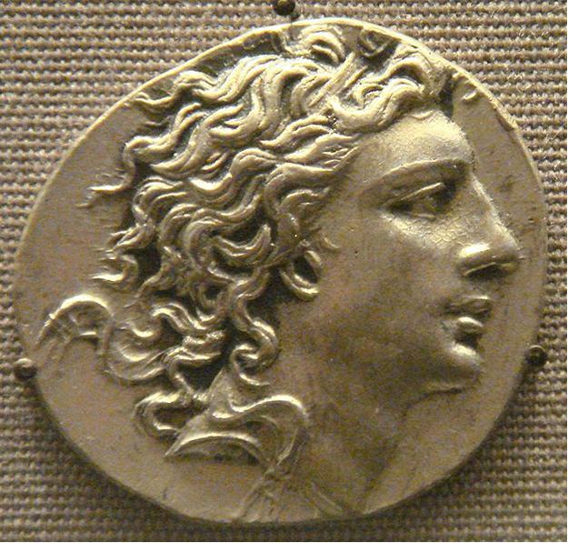 На монете изображен Митридат VI Евпатор