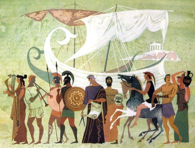 Картинка: античные греки