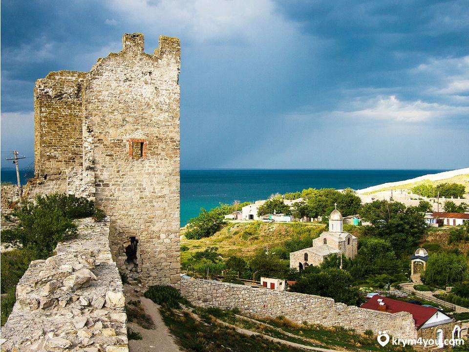 На фотографии крепость Кафа. Генуэзская экспансия