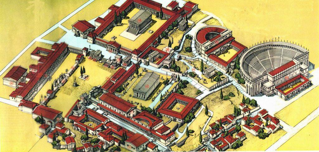 Показан макет классического древнегреческого полиса