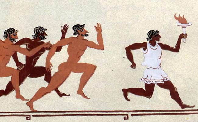 Изображение: древнегреческие спортивные состязания