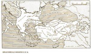 Карта Византии. Православные правители.